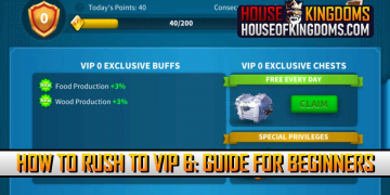 How to Rush to VIP 6 Rise of Kingdoms Guide