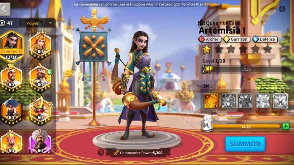 Artemisia I Rise of Kingdoms Commander
