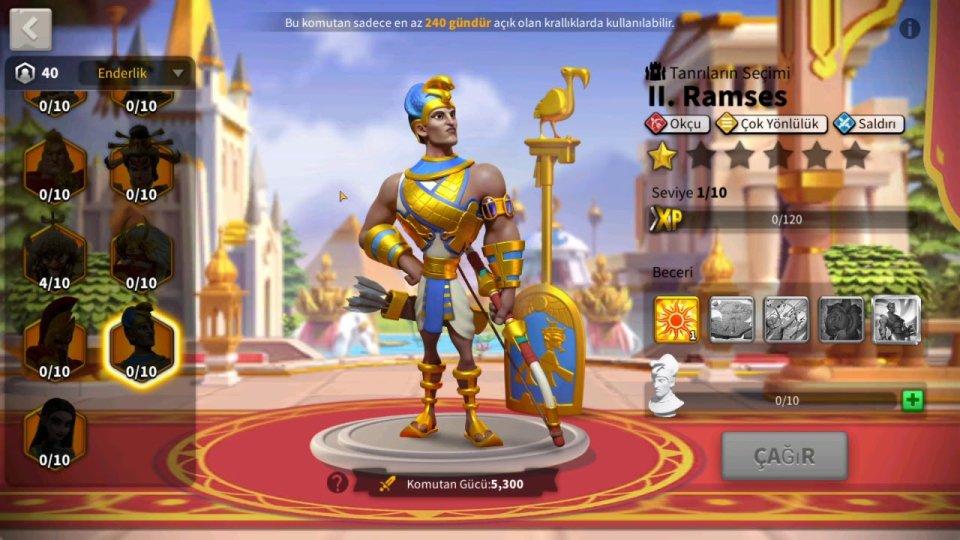 Ramesses II Rise of Kingdoms Commander