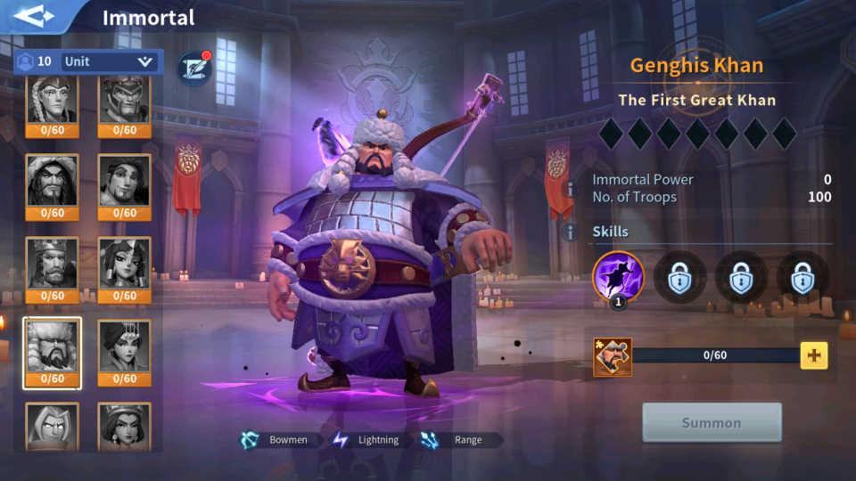 Genghis Khan Lightning Immortal