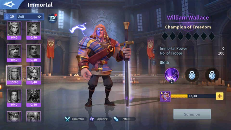 William Wallace Lightning Immortal