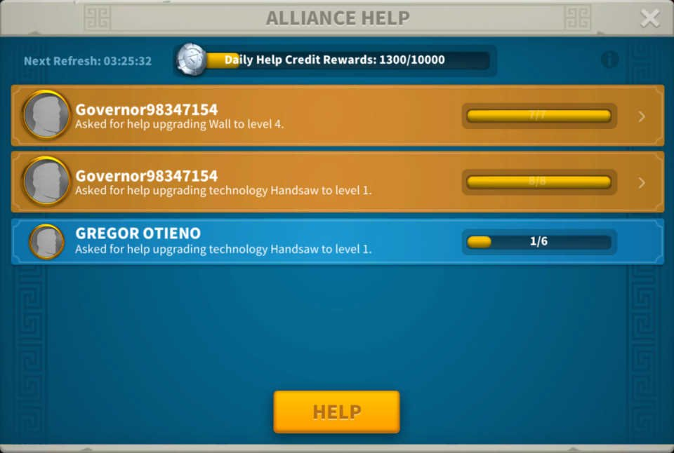Alliance Help Governor's City Tip