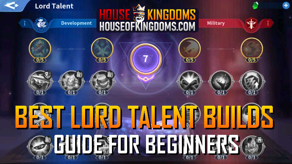 Best Lord Talent Builds Infinity Kingdom Guide