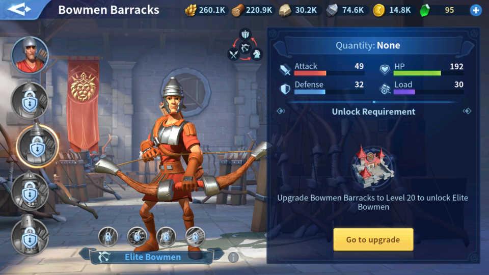 Elite Bowmen Troops Infinity Kingdom Guide