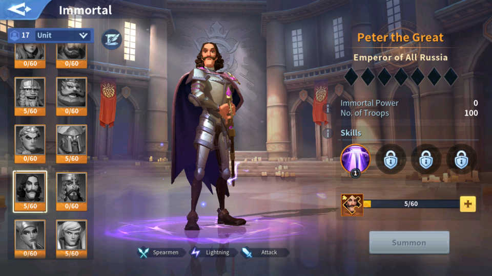 Peter the Great Immortal Guide Infinity Kingdom