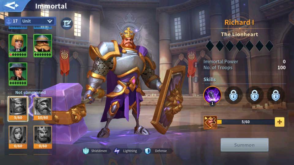 Richard I Immortal Guide Infinity Kingdom