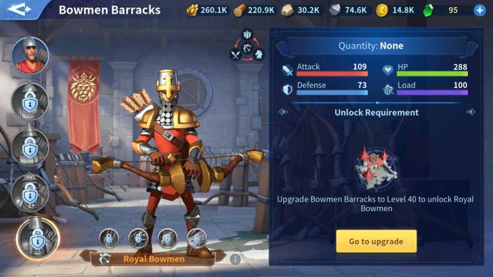 Royal Bowmen Troops Infinity Kingdom Guide