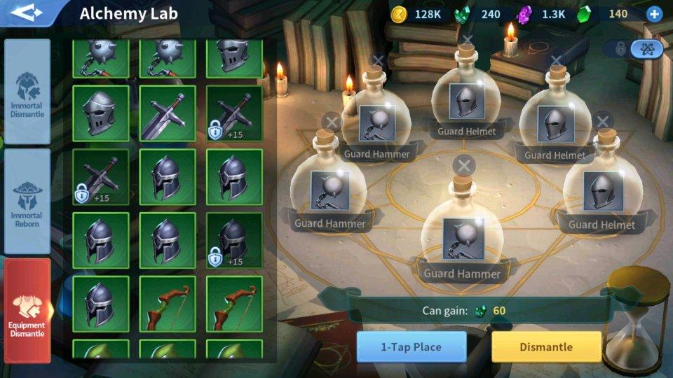 Convert Enchant Stones Equipment Alchemy Lab Infinity Kingdom