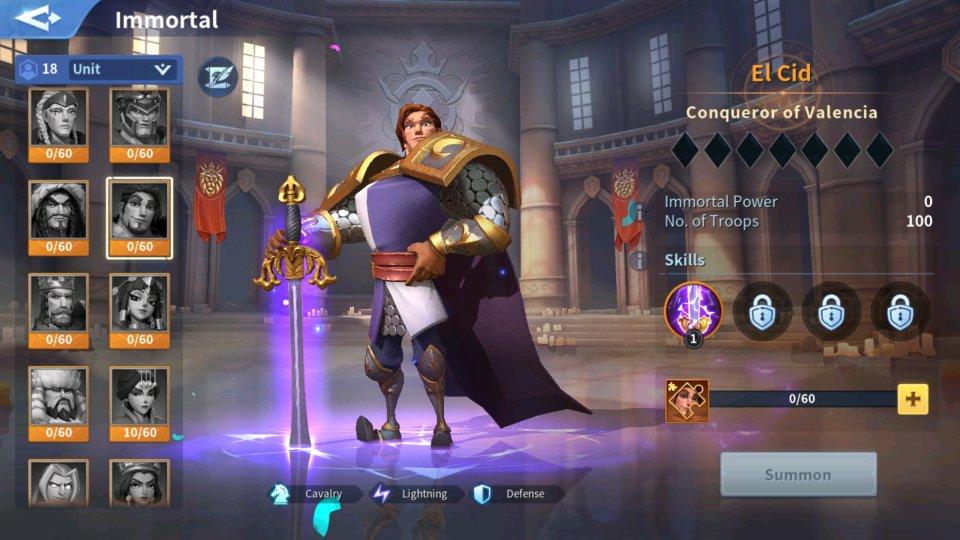 El Cid Immortal Guide Infinity Kingdom