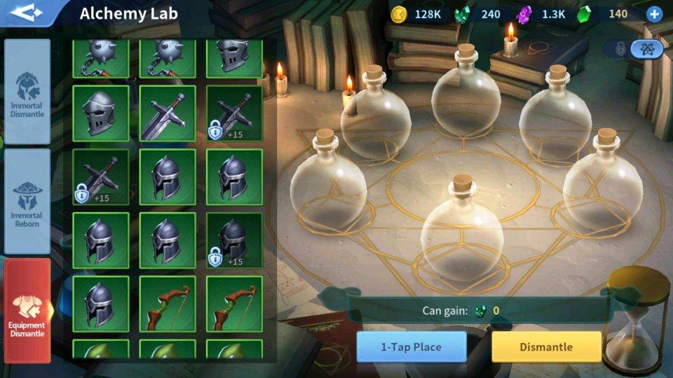 Enchant Stone Equipment Dismantle Alchemy Lab Infinity Kingdom Guide