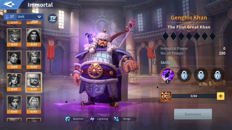 Genghis Khan Immortal Infinity Kingdom Guide