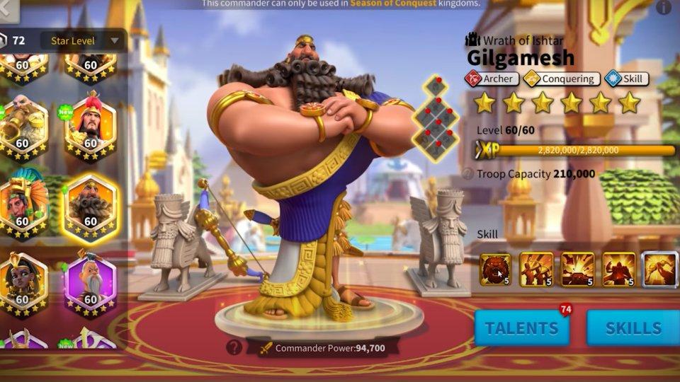 Gilgamesh Rise of Kingdoms Guide
