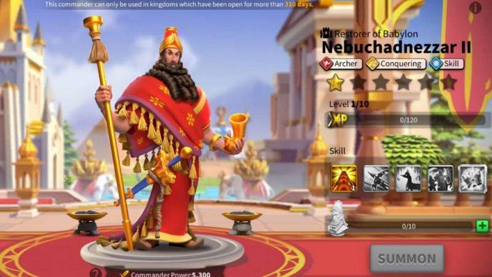 Nebuchnezzar II Rise of Kingdoms