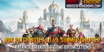 ROK Patch Notes 1.0.49 Summer Chapter Rise of Kingdoms