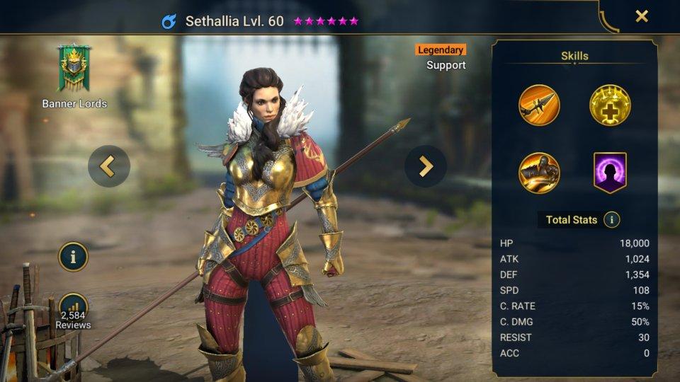 Sethallia Champion Guide Raid Shadow Legends