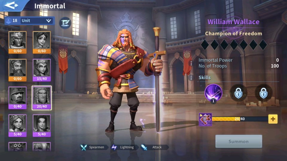 William Wallace Immortal Guide Infinity Kingdom
